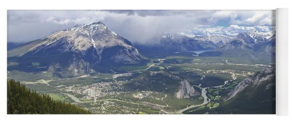 The View From The Top Of Sulphur Mountain Yoga Mat