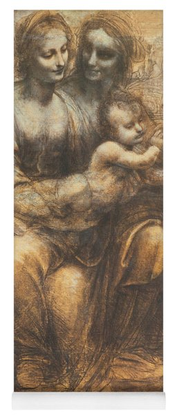 The Virgin And Child With Saint Anne And The Infant Saint John The Baptist Yoga Mat