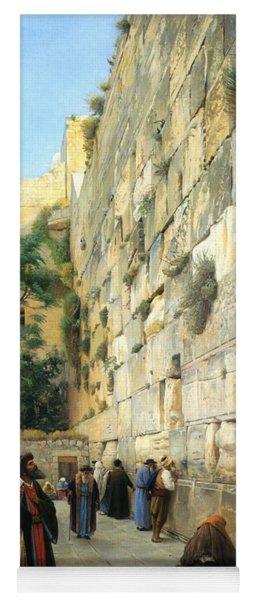 The Wailing Wall Jerusalem Yoga Mat