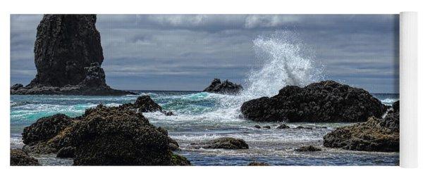 The Waves At Haystack Rock Yoga Mat