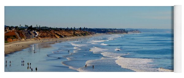 The Waves In Carlsbad Beach California  Yoga Mat