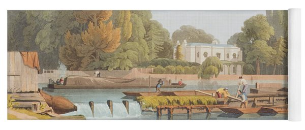 The Weir, From Marlow Bridge, Engraved Yoga Mat