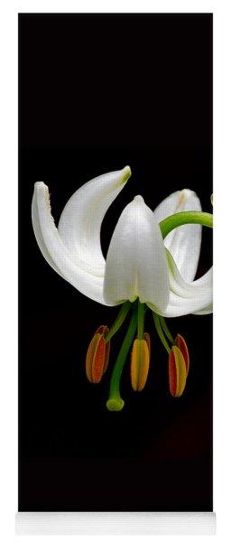 The White Form Of Lilium Martagon Named Album Yoga Mat