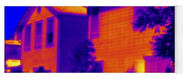 Thermogram Of A House Yoga Mat