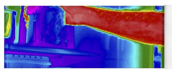 Thermogram Of Hand In Refrigerator Yoga Mat