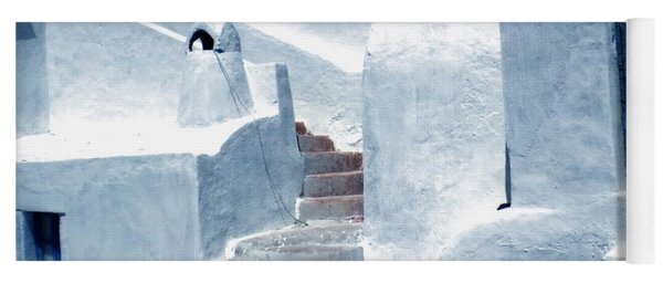 Yoga Mat featuring the photograph Thirasia Island Ancient House Near Santorini Greece by Colette V Hera  Guggenheim