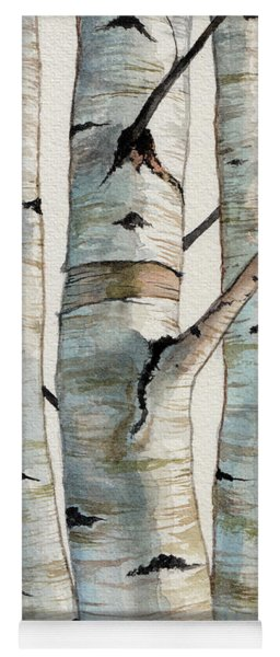 Three Birch Trees Yoga Mat
