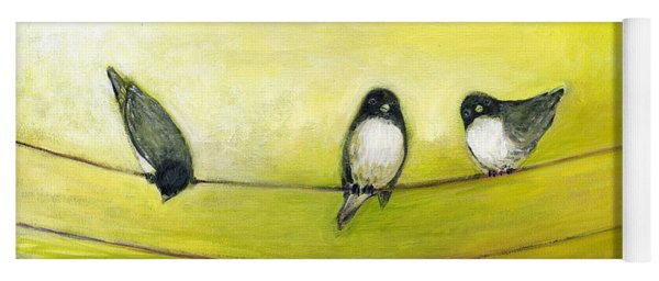 Three Birds On A Wire No 2 Yoga Mat