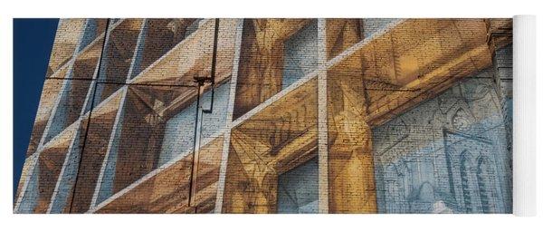 Three Dimensional Optical Illusions - Trompe L'oeil On A Brick Wall Yoga Mat