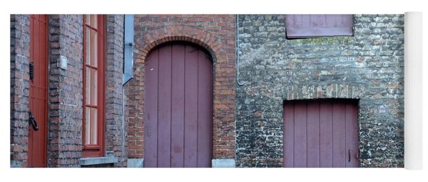 Three Doors And Two Windows Bruges, Belgium Yoga Mat
