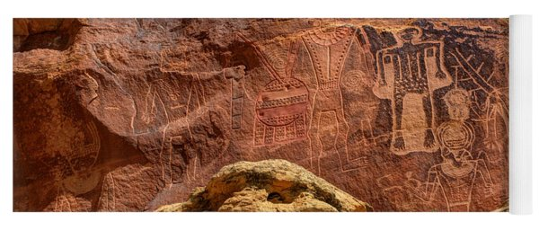 Three Kings Petroglyph - Mcconkie Ranch - Utah Yoga Mat