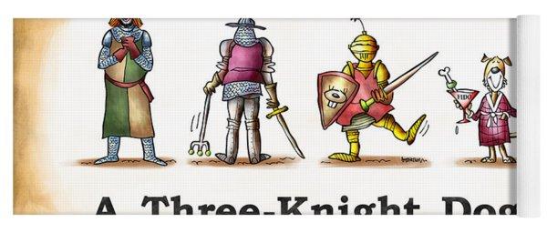 Three Knight Dog Yoga Mat