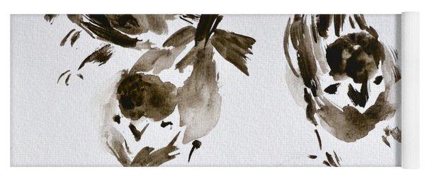 Three Little Birds Perch By My Doorstep Yoga Mat
