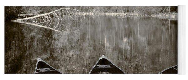 Three Old Canoes Yoga Mat