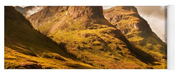 Three Sisters. Glencoe. Scotland Yoga Mat