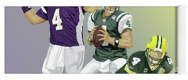 Three Stages Of Bret Favre Yoga Mat