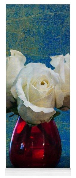Three White Roses Yoga Mat