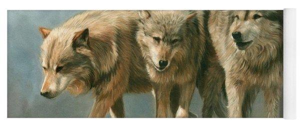 Three Wolves Yoga Mat