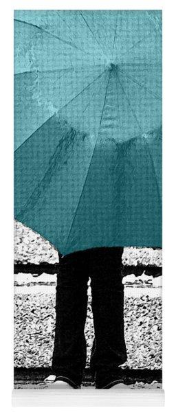 Tiffany Blue Umbrella Yoga Mat