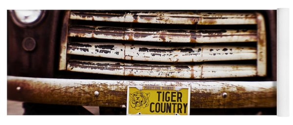 Tiger Country - Purple And Old Yoga Mat