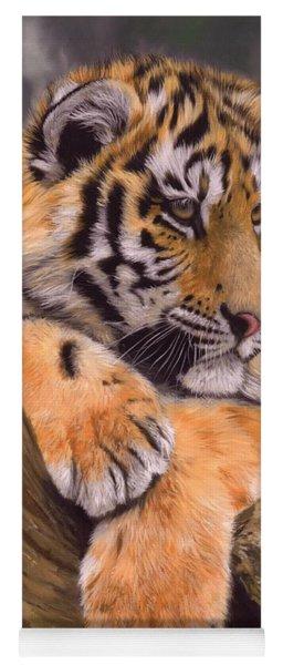 Tiger Cub Painting Yoga Mat