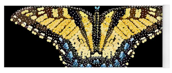 Tiger Swallowtail Butterfly Bedazzled Yoga Mat