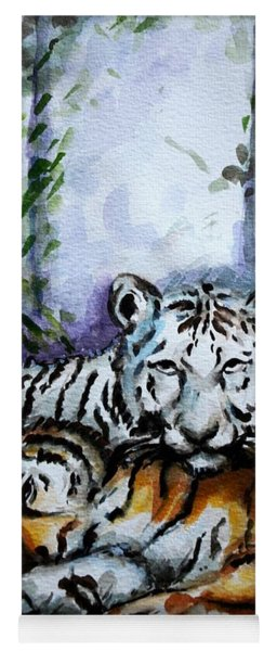 Tigers-mother And Child Yoga Mat