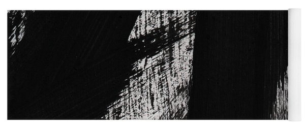 Timber- Vertical Abstract Black And White Painting Yoga Mat