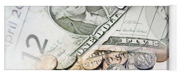 Time Is Money Concept Yoga Mat