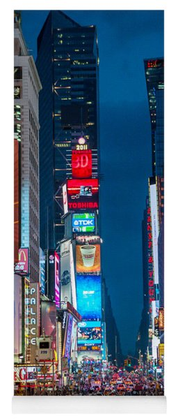 Yoga Mat featuring the photograph Times Square I by Ray Warren