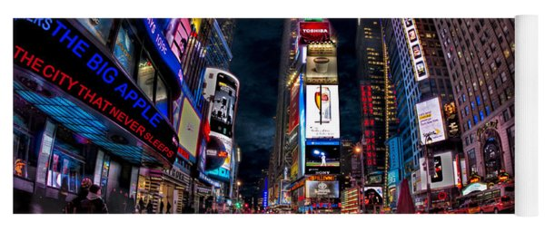 Times Square New York City The City That Never Sleeps Yoga Mat