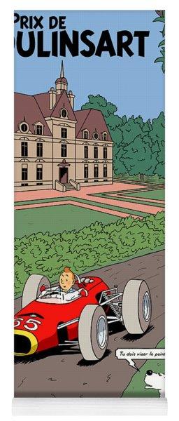 Tintin Grand Prix De Moulinsart 1965  Yoga Mat