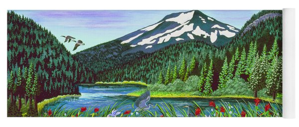 Todd Lake Mt. Bachelor Yoga Mat