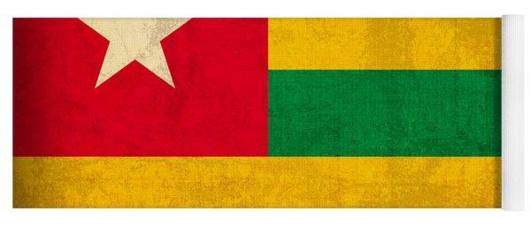Togo Flag Vintage Distressed Finish Yoga Mat