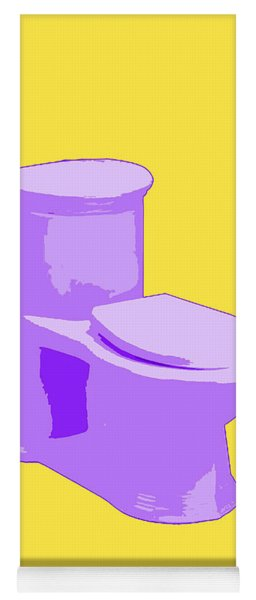 Toilette In Purple Yoga Mat