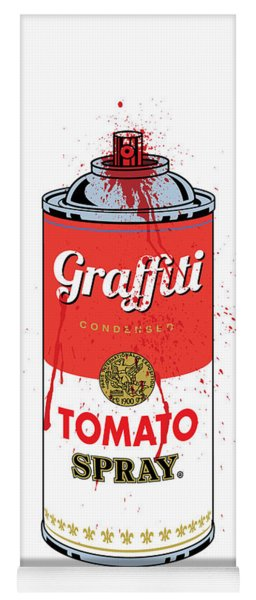 Tomato Spray Can Yoga Mat
