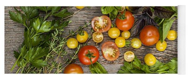 Tomatoes And Herbs Yoga Mat