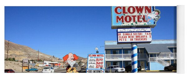 Tonopah Nevada - Clown Motel Yoga Mat