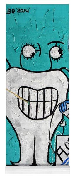 Tooth Pick Dental Art By Anthony Falbo Yoga Mat