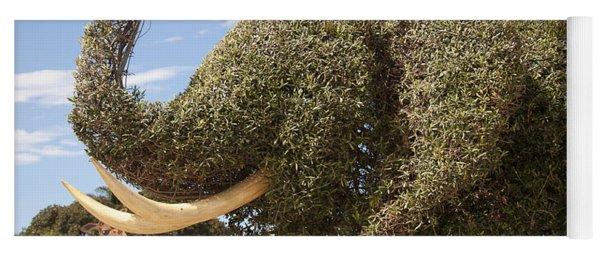 Topiary Elephant Yoga Mat