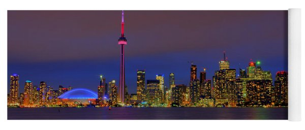 Toronto By Night... Yoga Mat