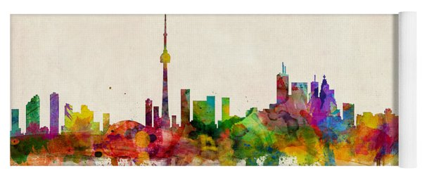 Toronto Skyline Yoga Mat