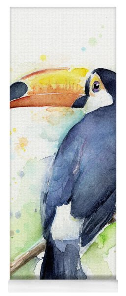 Toucan Watercolor Yoga Mat
