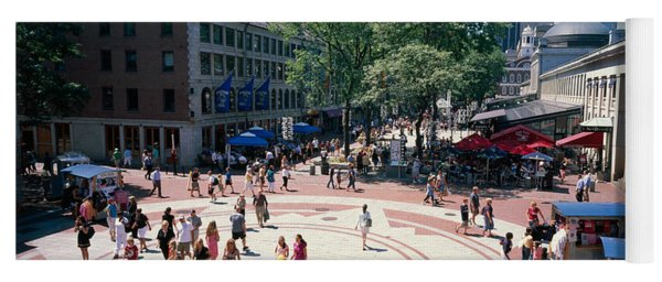 Tourists In A Market, Faneuil Hall Yoga Mat