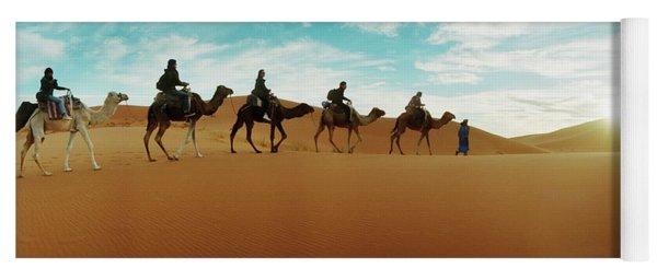 Tourists Riding Camels Yoga Mat