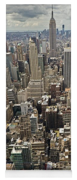 Tourists Viewing Downtown Manhattan Yoga Mat