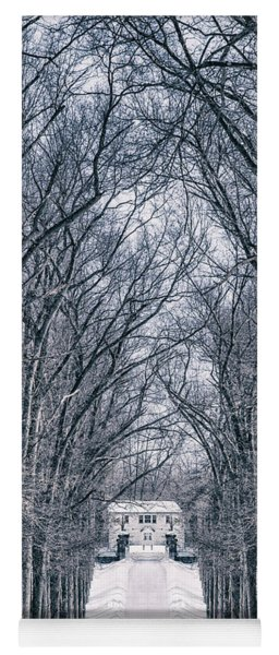 Towards The Lonely Path Of Winter Yoga Mat