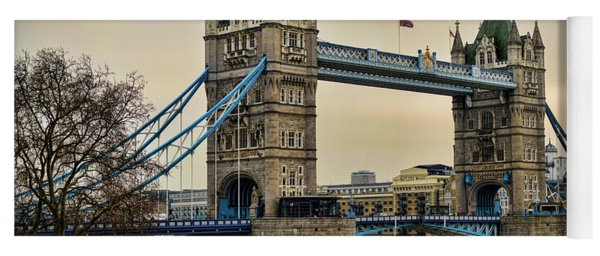 Tower Bridge On The River Thames Yoga Mat