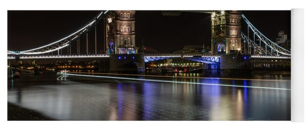 Tower Bridge With Boat Trails Yoga Mat