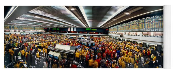 Traders In A Stock Market, Chicago Yoga Mat